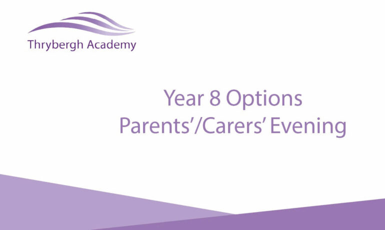 Year 8 options - parents'/carers' evening