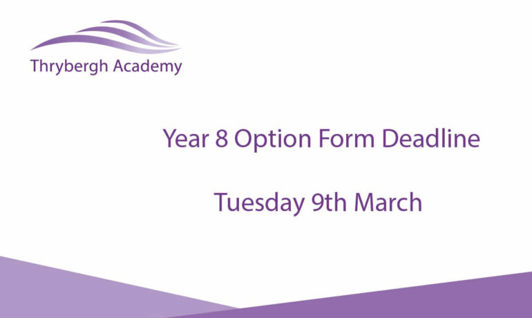 Year 8 Options - Deadline Reminder