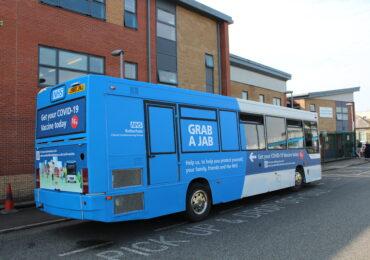 NHS Covid-19 Vaccination Bus Makes Stop at Wickersley Sixth Form